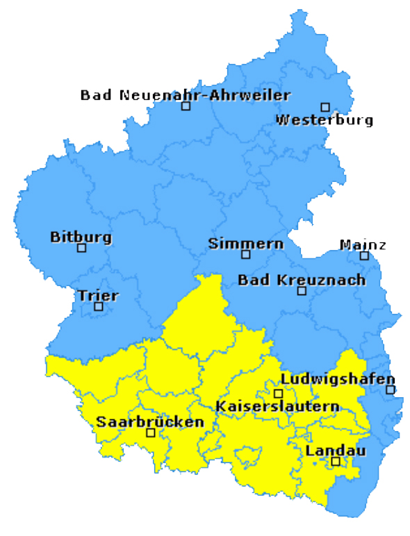 Unwetterkarte RLP